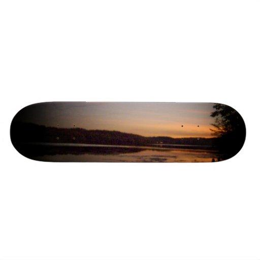 Sunset/Lake View Design Skateboard