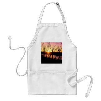 Sunset Lake Wilson Kansas Adult Apron