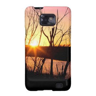 Sunset Lake Wilson Kansas Galaxy SII Covers