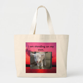 Sunset, lamb1280x1024, i am standing on my own. canvas bag