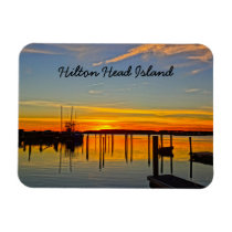 Sunset Landing Skull Creek Boathouse Hilton Head Magnet