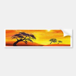 Sunset Landscape Scenery - Multi Car Bumper Sticker