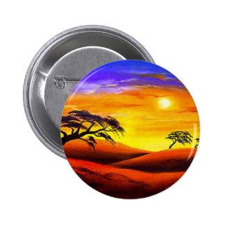Sunset Landscape Scenery - Multi Pinback Buttons