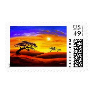 Sunset Landscape Scenery - Multi Stamp