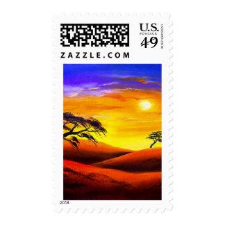 Sunset Landscape Scenery - Multi Postage Stamp