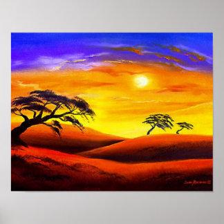Sunset Landscape Scenery - Multi Poster