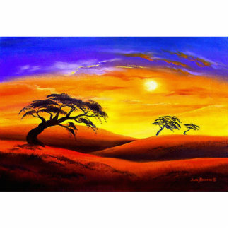 Sunset Landscape Scenery - Multi Statuette