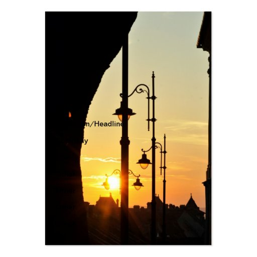 Sunset Large Business Cards (Pack Of 100)