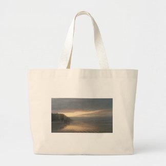 sunset large tote bag