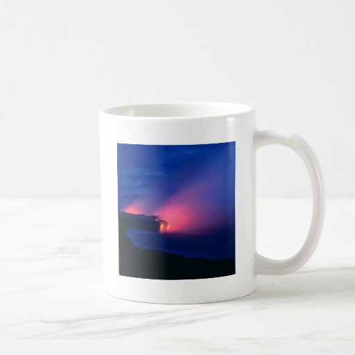 Sunset Lava Flow Ocean Twilight Mugs