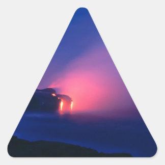 Sunset Lava Flow Ocean Twilight Triangle Stickers