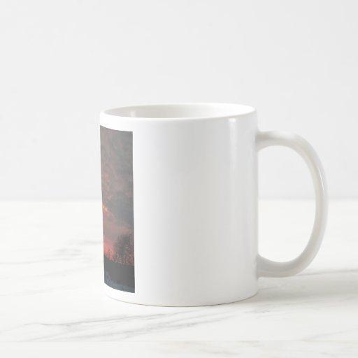 Sunset Lava Sky Coffee Mugs