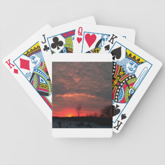Sunset Lava Sky Poker Deck