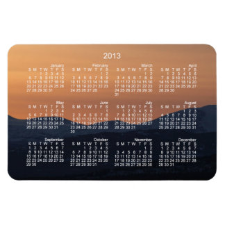 Sunset Layers; 2013 Calendar Magnet
