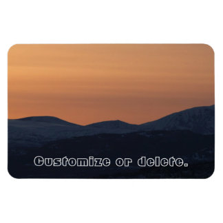 Sunset Layers; Customizable Magnet