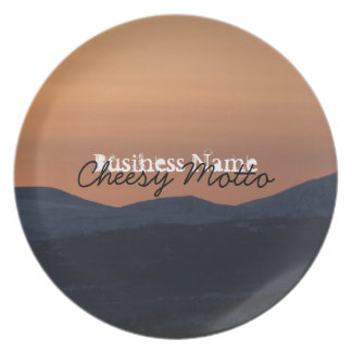 Sunset Layers; Promotional Melamine Plate