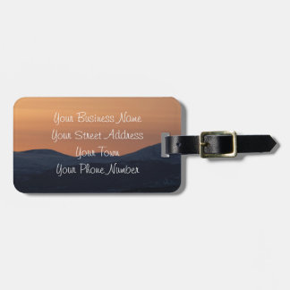 Sunset Layers; Promotional Travel Bag Tags