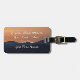 Sunset Layers Tag For Bags