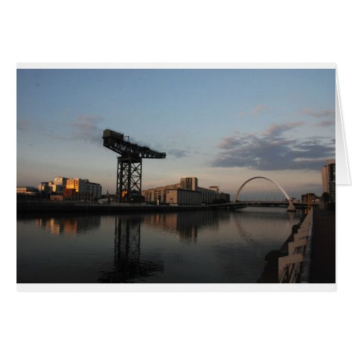 Sunset light on the River Clyde Card