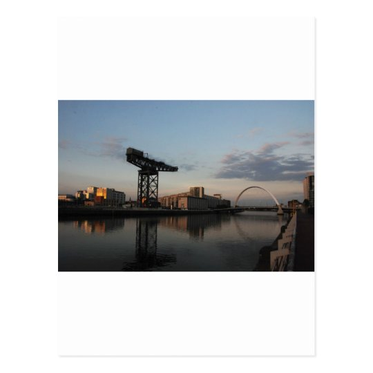 Sunset light on the River Clyde Postcard