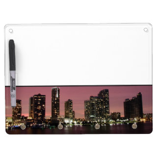 Sunset light over Miami after a storm Dry Erase Board With Keychain Holder