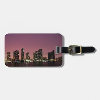 Sunset light over Miami after a storm Luggage Tag