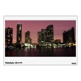 Sunset light over Miami after a storm Wall Decal