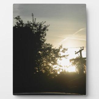 Sunset Light Shine Photo Plaque