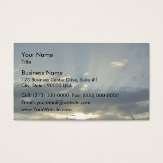 Sunset lights up the sky business card
