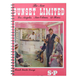 Sunset Limited Los Angeles New Orleans Poster Notebook