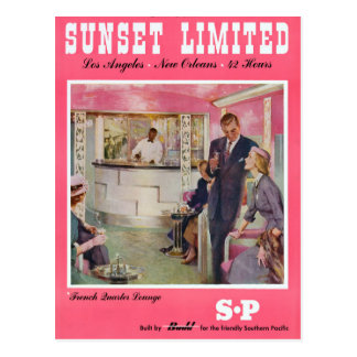Sunset Limited Los Angeles New Orleans Poster Postcard