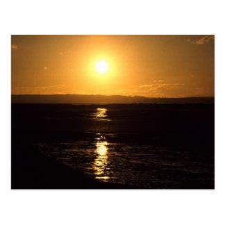 Sunset, Lindisfarne, England - Postcard