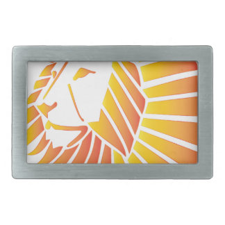 Sunset Lion Belt Buckles