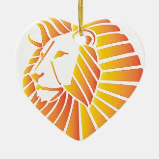 Sunset Lion Ceramic Ornament