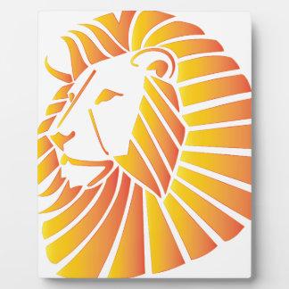 Sunset Lion Plaque