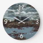 Sunset Lit Harbor Seal Large Clock