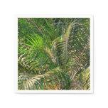 Sunset Lit Palm Fronds Paper Napkin