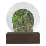 Sunset Lit Palm Fronds Snow Globe