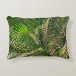 Sunset Lit Palm Fronds Warm Tropical Accent Pillow