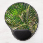 Sunset Lit Palm Fronds Warm Tropical Gel Mouse Mat