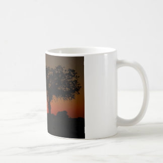 Sunset Live Oak Coffee Mug