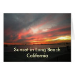 Sunset Long Beach 1, Sunset in Long Beach Calif... Card
