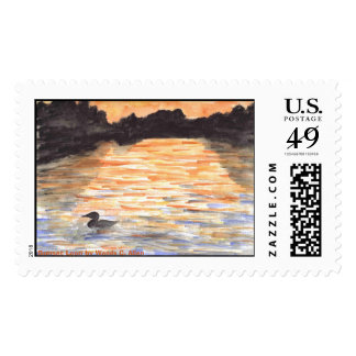 Sunset Loon by Wendy C. Allen Postage