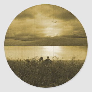 Sunset Lost Picnic Round Stickers