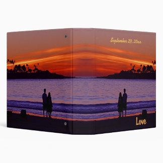 Sunset Love Couple Vinyl Binder