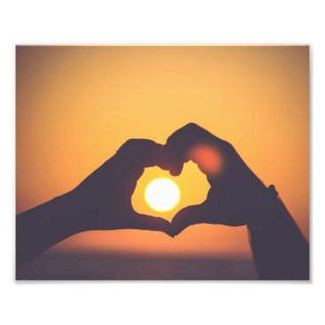 "Beach Themed ""Sunset Love"" Photo Print"