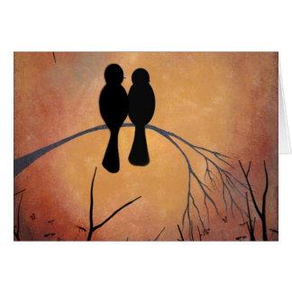 Sunset Lovebirds Card