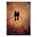 Sunset Lovebirds Greeting Card