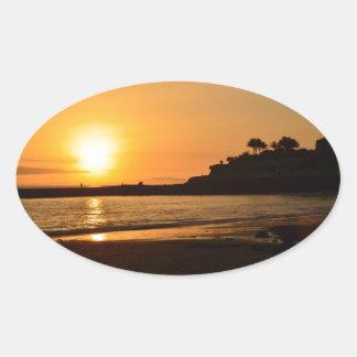 Sunset Lullabye Oval Sticker