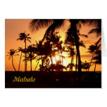 Sunset Mahalo Cards